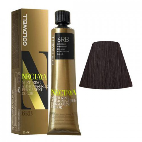 Goldwell Nectaya Warm Browns 6RB Faggio Rosso Medio 60ml -