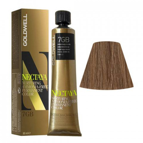 Goldwell Nectaya Warm Browns 7GB Biondo Beige Sahara 60ml -