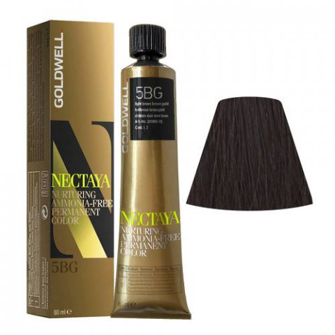 Goldwell Nectaya Warm Browns 5BG Castano Chiaro Bruno Dorato 60ml -