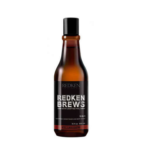 Redken Brews 3 in1 Shampoo - Conditioner - Body Wash 300ml -
