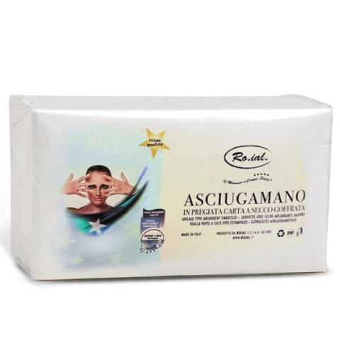 Asciugamani Roial 5 Stelle in Carta a Secco Goffrata 36x67cm - 50pz -