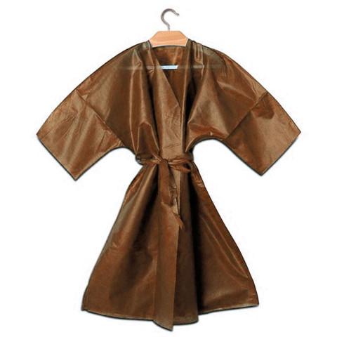 Kimono Caffe Monouso  Bordato con Cinta - 10pz -