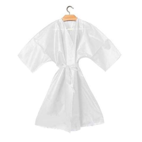 Kimono Monouso Bordato con Cinta Bianco - 10pz -