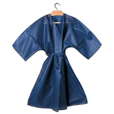 Kimono Blu Monouso Bordato con Cinta - 10pz -
