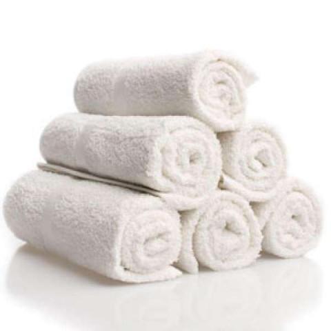 Asciugamano in Spugna in Cotone Bianco - 12pz -