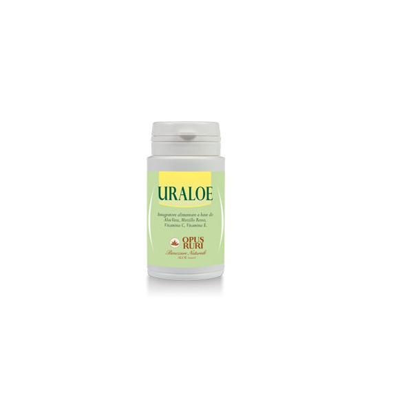Uraloe Opus Ruri Integratore alimentare a base di: Aloe Vera, Mirtillo Rosso, Vitamina C, Vitamina E -