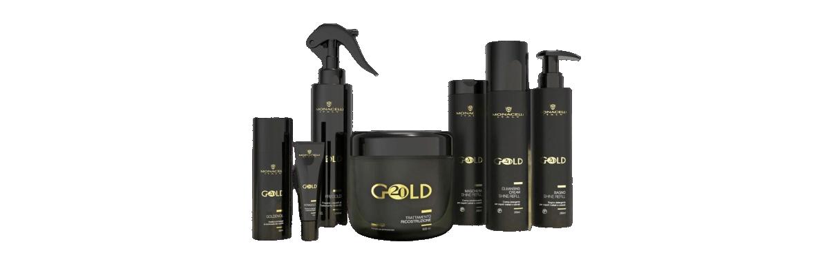 Monacelli Gold 20, linea di prodotti per la ricostruzione dei capelli